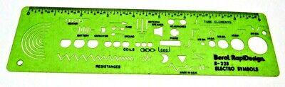 FREE SHIP! Berol Rapidesign Template R-17 Mathematical