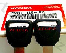 2 NEW Genuine ACURA Honda Master Key Blank Odyssey CRX del Sol Prelude Civic