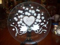 50th Anniversary Large Glass Serving Plate