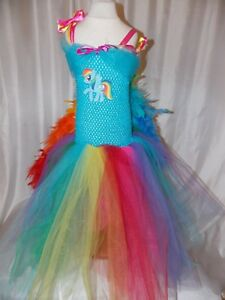 Fancy dress Rainbow Dash Tutu Dress Handmade Age 2 My Little Pony Inspired