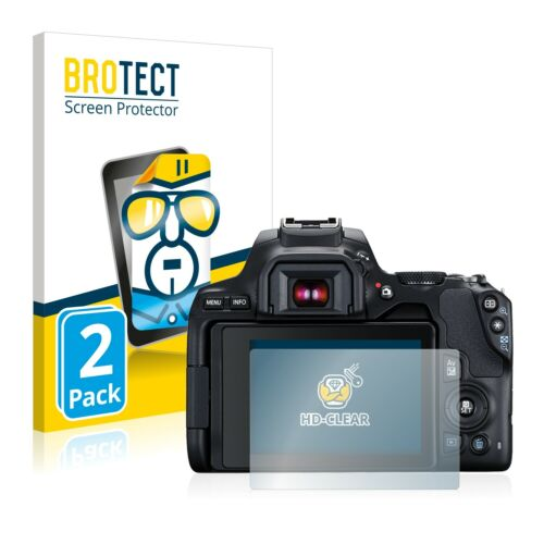 2x Screen Protector Canon EOS 250D Protection Film Crystal-Clear Screen Guard