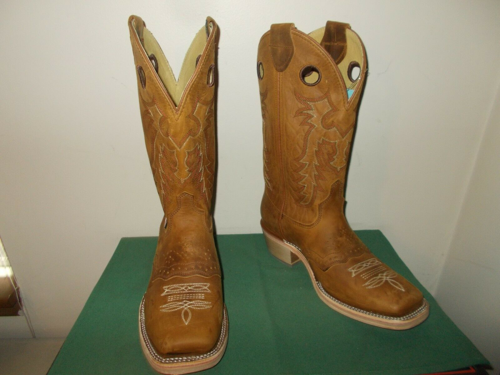 Mens 13 Inch Square Toe Old Town Buckaroo Western Cowboy Boots 11 EE New USA New