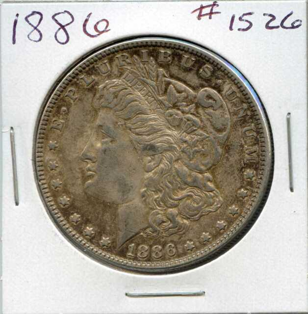 1886 $1 Morgan Silver Dollar. Circulated. Lot #1208