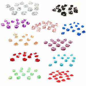 Acrylic Crystal Gem Stone Ice Rocks Table Scatter Confetti Vase Filler, 5 Pounds