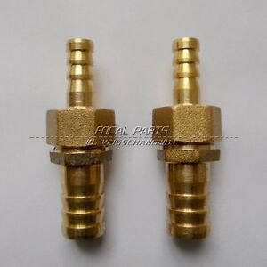 """2PCS Brass Barb 5/8"""" Hose ID to 3/8"""" Reducer Fitting Water Fuel Boat Splicer M3"""