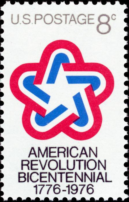 1971 8c America Revolution Bicentennial Emblem Scott 14