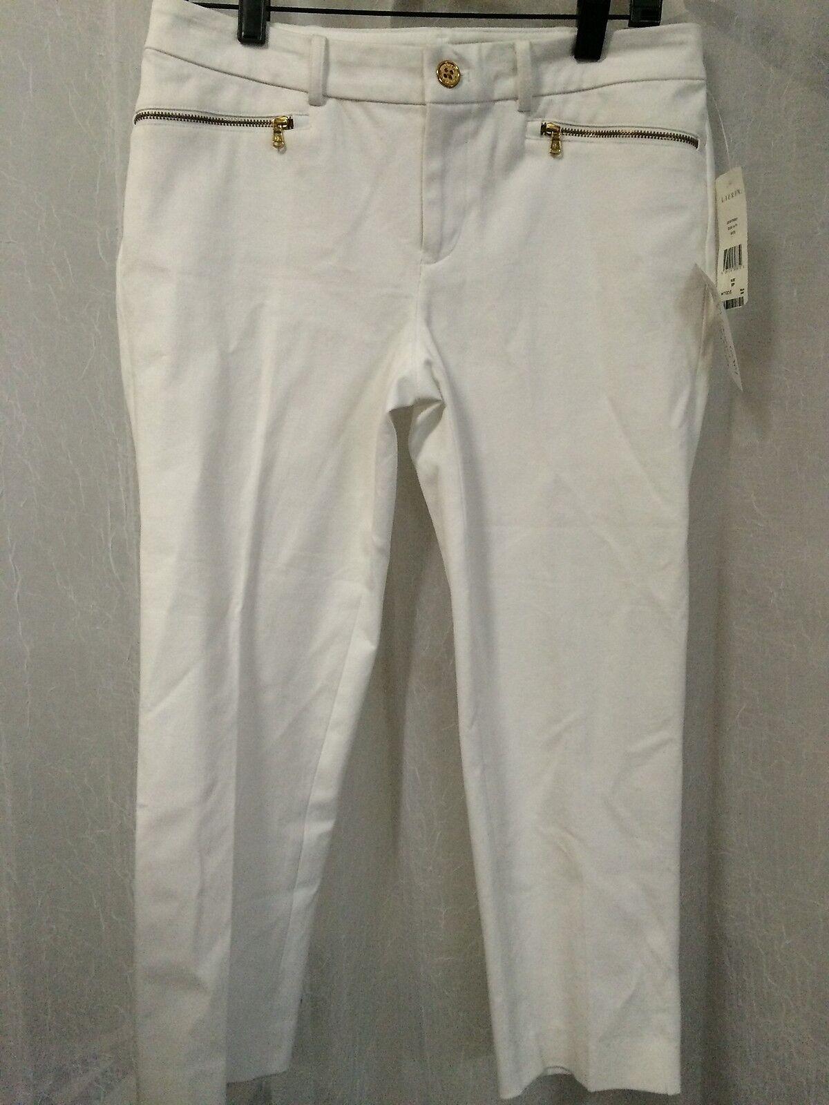 Ralph Lauren Women's Pants Petites White Crop Pants Size 6P NWT
