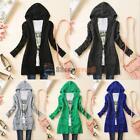 HOT Womens Knitted Hooded Sweater Long Sleeve Knitwear Cardigan Coat Outwear Top