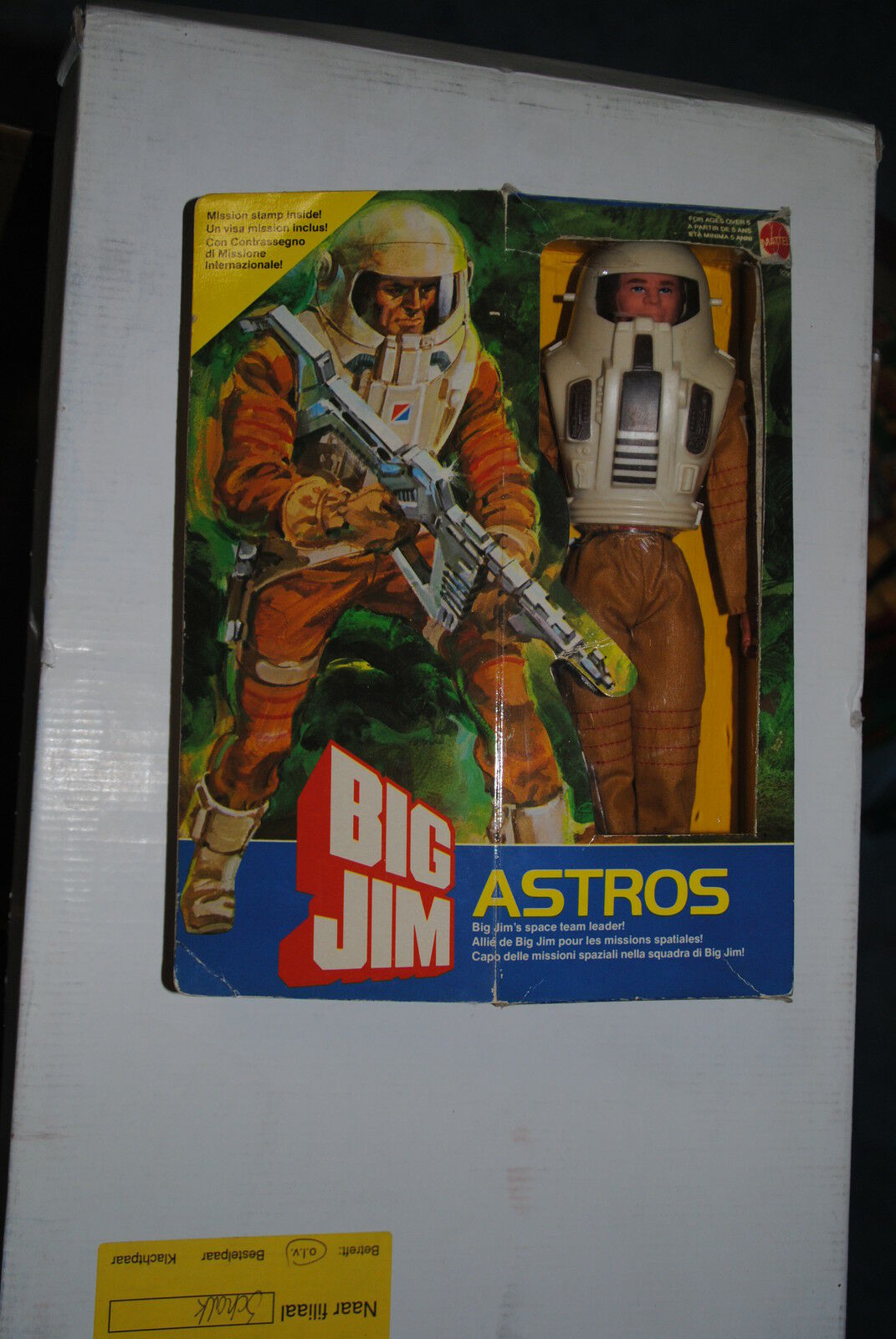 BIG JIM MATTEL  ASTROS      NEVER REMOVED FROM THE BOX