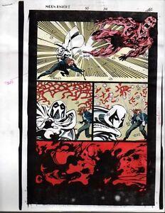 1993-Moon-Knight-50-page-34-original-Marvel-Comics-color-guide-comic-art-1990-039-s