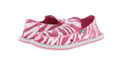Sanuk Kids Im Game Slip-On Toddler//Little Kid//Big Kid ,Zebra Rose//Peach