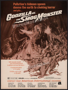 GODZILLA vs. The SMOG MONSTER__Orig. 1972 Trade Print AD promo / ADVERT__Hedorah