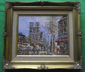 Details About C1950 Paris Notre Dame Original Modernist Oil Painting By Caroline Burnett