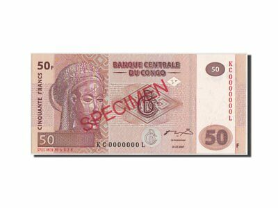50 Francs #460090 Km:97s Specimen 31.07.2007 Unc To Make One Feel At Ease And Energetic Congo