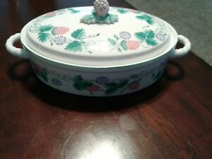 Taste-Setter-Strawberry-Vines-by-Sigma-Casserole-Dish-with-Lid