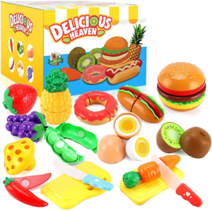 33pcs Cutting Pretend Play Food Toys For Kids Kitchen Set Playset Accessories Bp Ebay