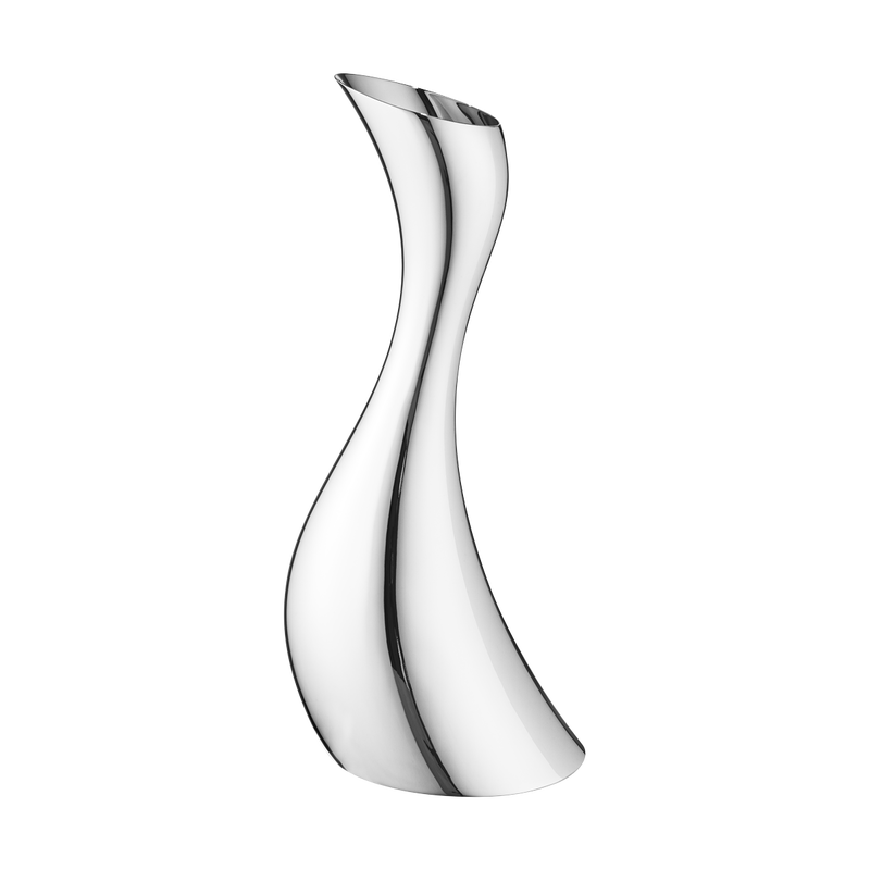Georg Jensen en acier inoxydable Cobra emblématique incurvée Pitcher moderne Brand New in Box