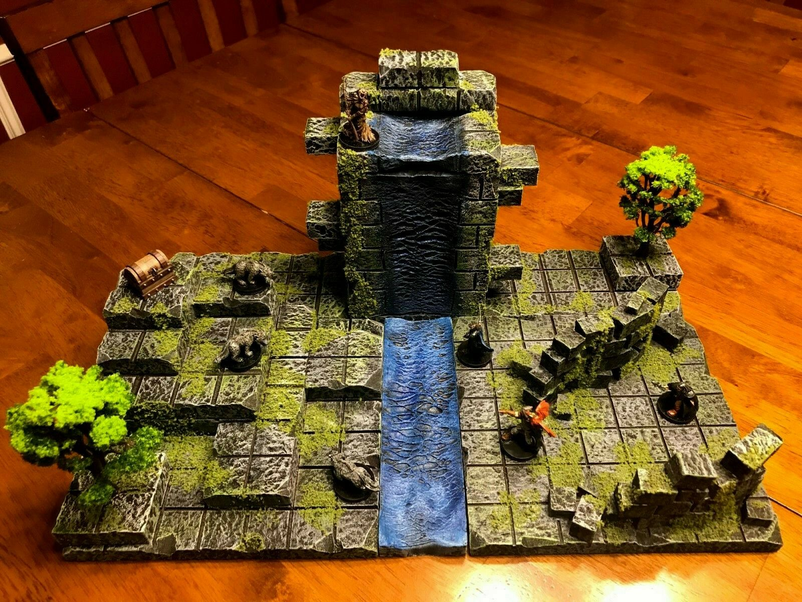 La Sagrada aguas de desgracias 28mm terreno Dungeons & Dragons Pathfinder D&D Paisaje