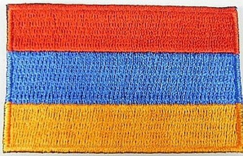 Armenien Aufnäher gestickt,Flagge Fahne,Patch,Aufbügler,6,5cm,neu