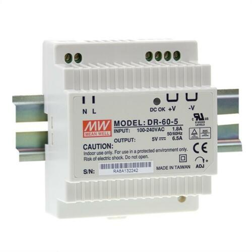 Din-Rail switching power supply MeanWell HDR-//DR-//DRP-//MDR-series ; panel mount