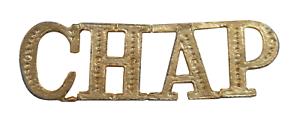 CHAP Chaplain Gilded Abbreviation For Orange Order Collarette