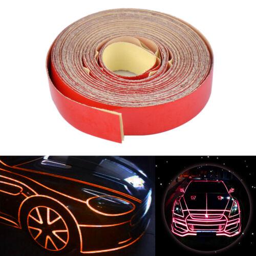 5m X 1cm Rojo Cinta Adhesiva banda reflectante coche camión cuerpo Auto Adhesivo Calcomanía