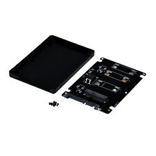 """Mini PCIE mSATA SSD To 2.5"""" SATA3 Adapter Interface Card Mit Case Weiß Schwarz"""