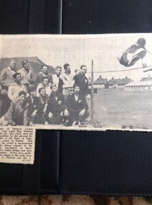 72-7-Ephemera-1957-Picture-Magate-County-Youth-Club-Stan-Williams-High-Jump