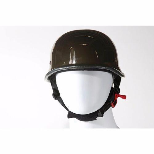 Black Chrome German Shiny Novelty Motorcycle Helmet # HC102-01