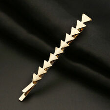 1pc Women Gold Hair Clips Barrettes Geometry Triangle Hairpin Hair Accessories