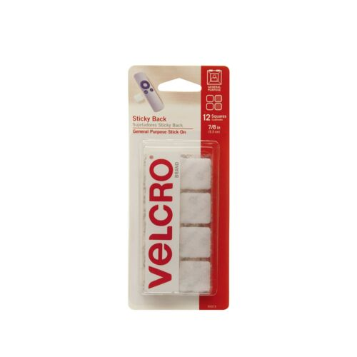 VELCRO Brand Mounting SquaresPack of 127//8 Inch WhiteAdhesive Sticky...