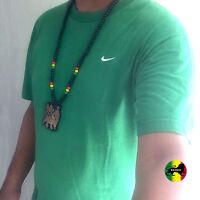 Lion Of Judah Wood Necklace Large Pendant Rasta Reggae Rastafari Jamaica Bob 32