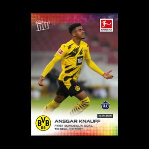 Ansgar Knauff RC - Borussia Dortmund - 2020/2021 Bundesliga Topps Now Card #164