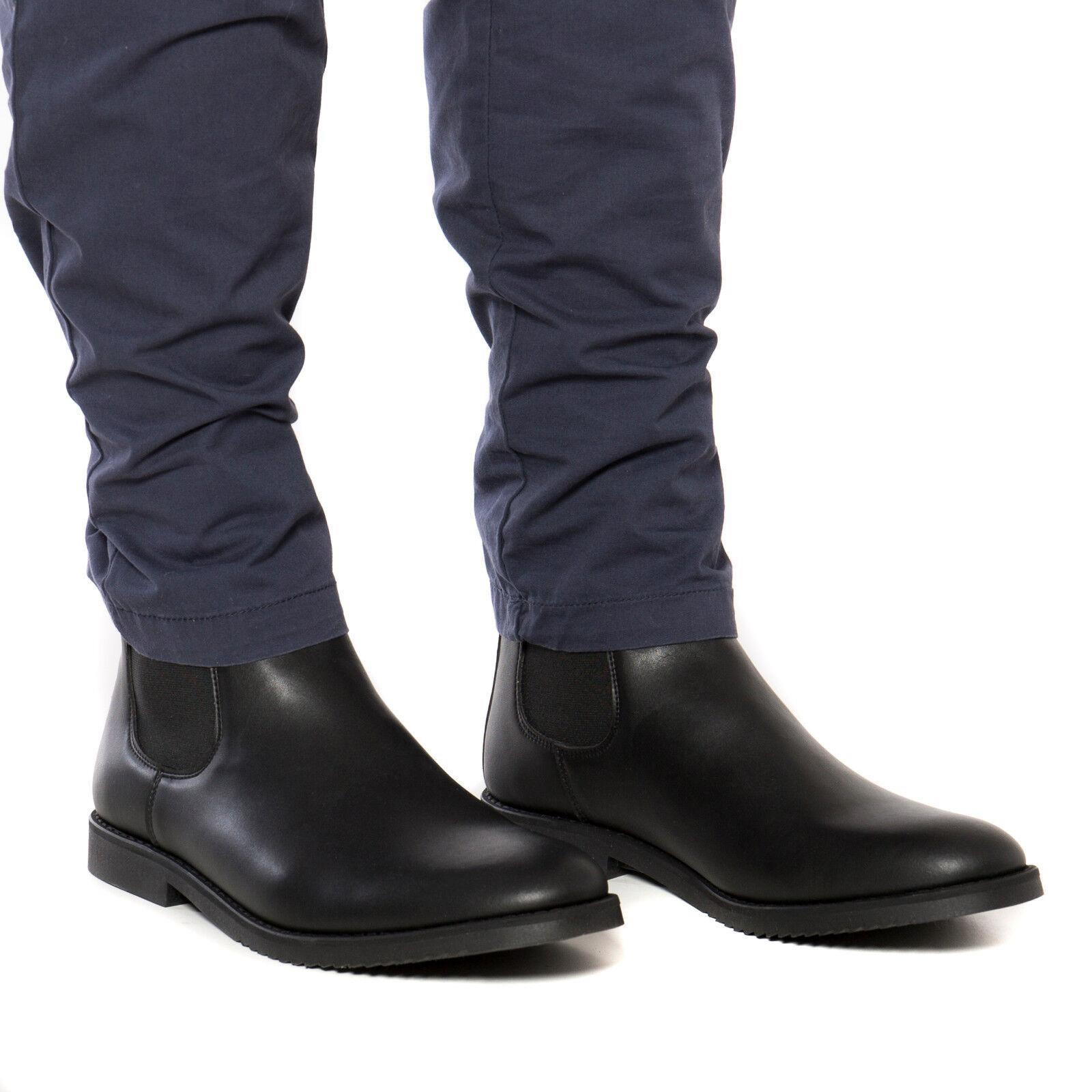 Chelsea Vegano Botas para hombre hecho en en en negro microfibra ecológico 9f38e8