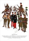 PLANCHE UNIFORMS PRINT WWII France Légion Étrangère Légionnaire en grande tenue