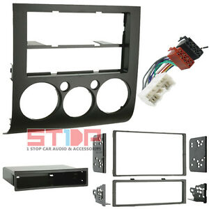 mitsubishi 380 single double din facia kit iso wiring harness image is loading mitsubishi 380 single double din facia kit iso