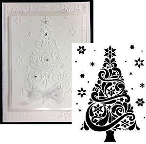 Image Is Loading Christmas Tree Swirl  Embossing Folder Darice Embossing Folders