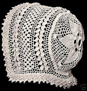 Vintage Antique Crochet PATTERN to make Baby Cap Hat Bonnet Dutch WeldonDiamond