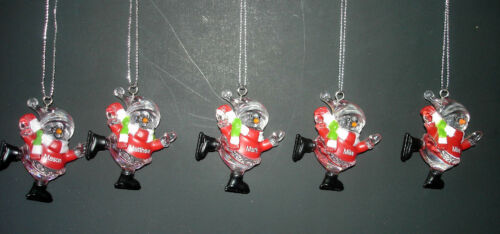 New Ice Skating Snowman Red Ornament Personalized Names 2.25 in H Select Name