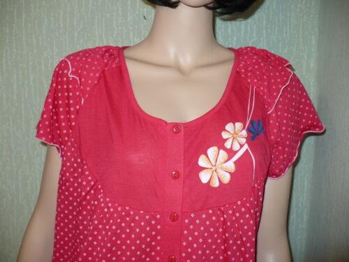 M-XXXL verschiedene Farben Damen Nachthemd kurz Flügelarm Gr