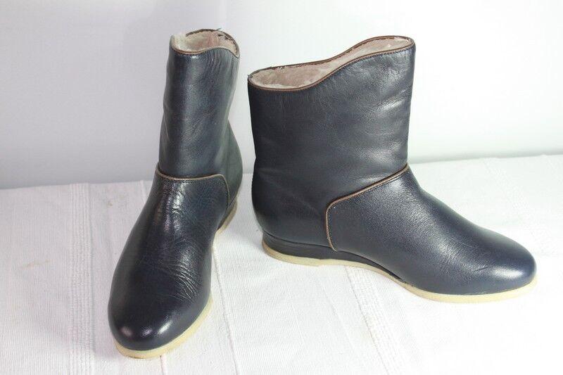 botas Forradas ELEFANTEN Cuero Azul Oscuro T 35 35 35 EXCELENTE ESTADO  presentando toda la última moda de la calle
