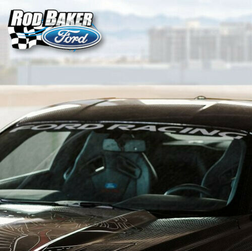 15 thru 18 Ford Mustang Windshield Banner White Ford Performance Racing Decal
