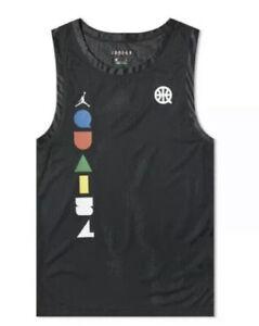 Nike-Air-Jordan-Men-s-Vest-Tank-Jersey-XXXL-Black-Mesh-Dri-Fit-CK0491-010