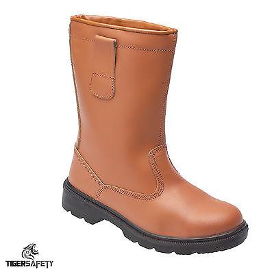 Toesavers 2413 S1p Src Tan Pelle Calda Foderato Steel Toe Cap Safety Rigger Boots-mostra Il Titolo Originale