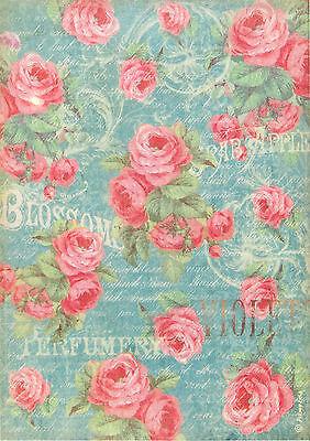 Ricepaper/ Decoupage paper, Scrapbooking Sheets /Craft Paper Versailles Blossom