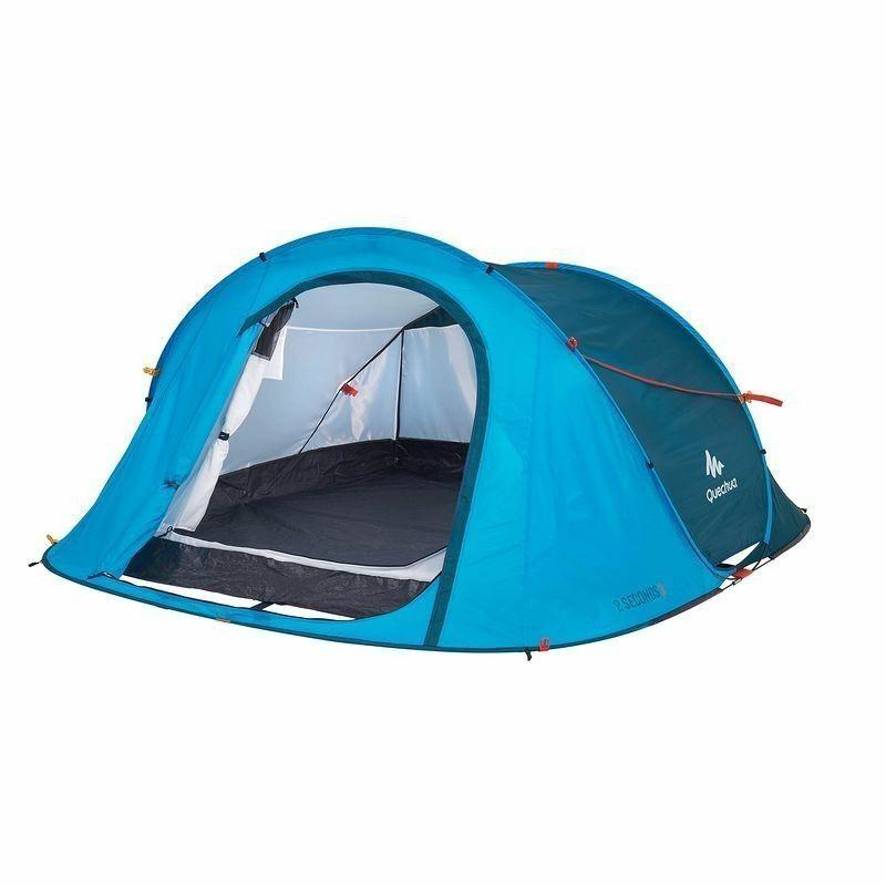 QUECHUA 2 SECONDS III Wurfzelt 3 Personen EASY Pop-up Camping-Zelt Strand BLAU