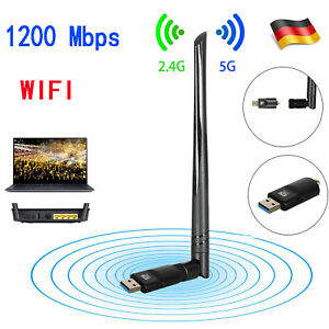 1200Mbps-WiFi-Dongle-WLAN-Stick-Dualband-Wireless-Adapter-2-4-5GHz-802-11-WPA2