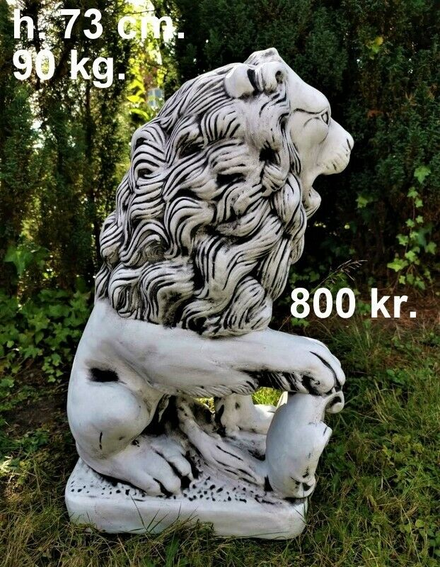 Havefigurer - Stor løvesæt