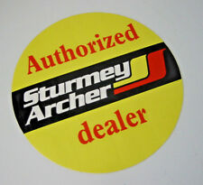 """Official Sturmey Archer """"Authorized Dealer"""" Round Window Decal - Transfer- LARGE"""