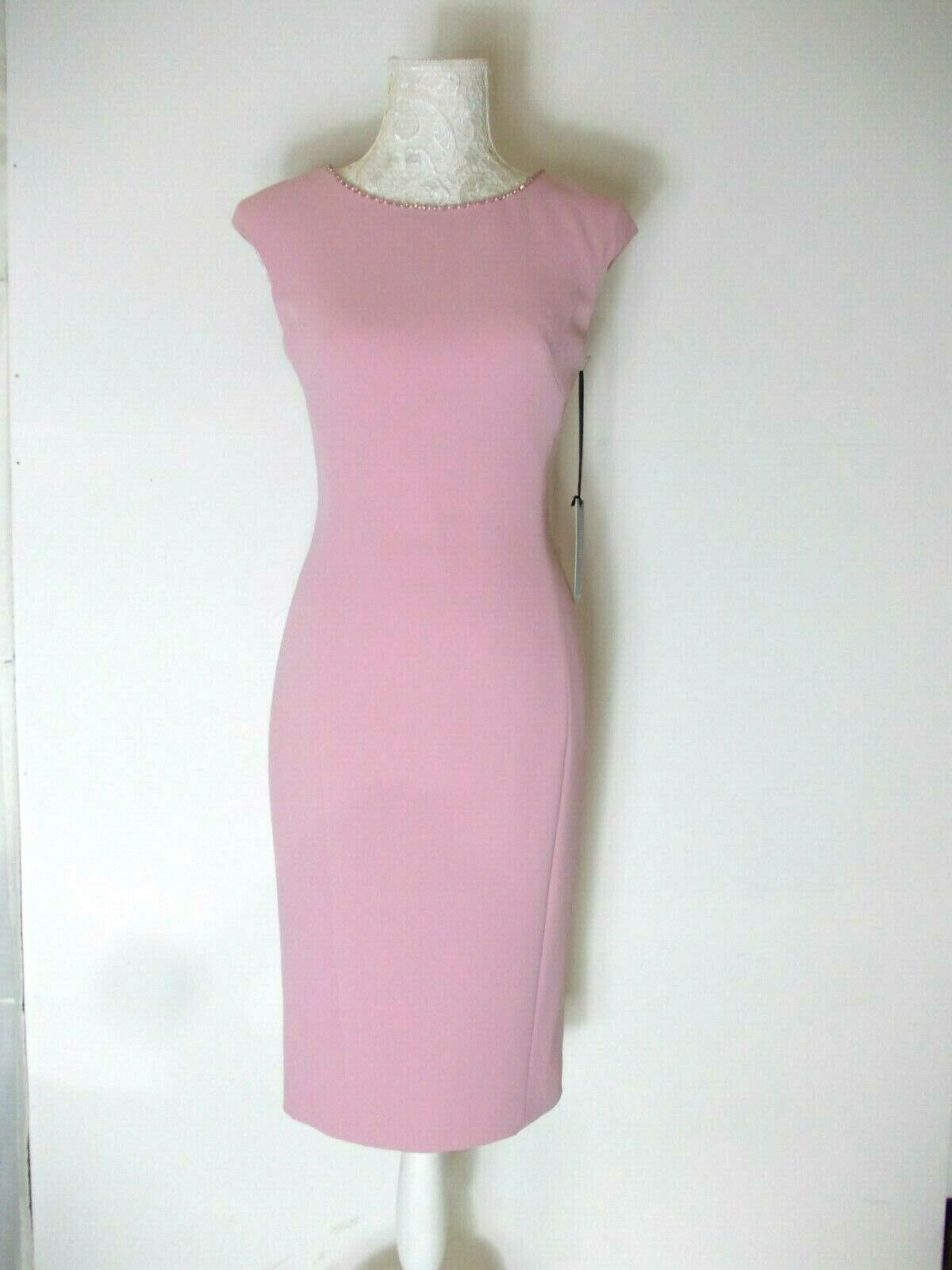 special occasion/mother of the bride dress & cape in pink size 6-8
